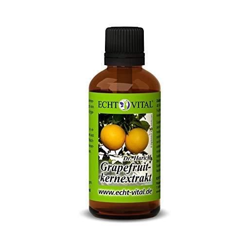 ECHT VITAL Grapefruitkernextrakt | 1 Flasche mit 50 ml | Grapefruit Extrakt nach dem Original-Rezept von Dr. Harich | aus Kern und Schale | hochdosiert - vegan | hergestellt in Deutschland