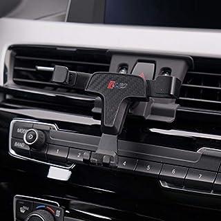 HIGH FLYING für X1 F48 2016 2019 / X2 F39 2018 2019 Handyhalterung Auto Lüftung KFZ Halterung 360 Grad Drehung Kohlefaserfarbe