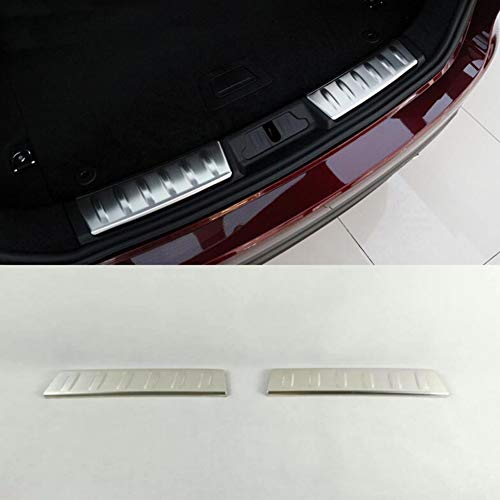 ASDNN 2PCS stainless steel fender trim trunk car-styling fit For Jaguar F-PACE 2016 2017