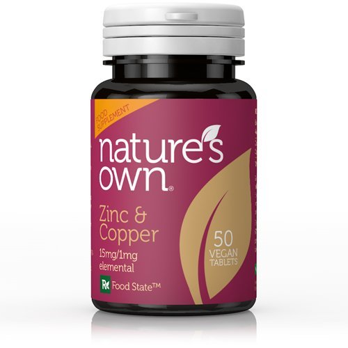 NATURES OWN Food State Zinc/Copper 15mg/1mg 50tabs (PACK OF 1)