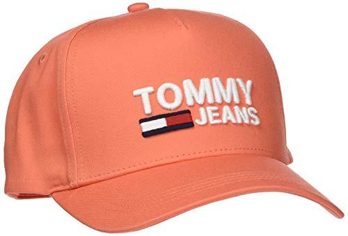 Tommy Jeans Damen TJW Logo Baseball Cap, Rot (Emberglow 674), One Size (Herstellergröße:OS)