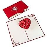 PaperCrush Pop-Up Karte 3D Herz - Romantische Geburtstagskarte oder Weihnachtskarte für Sie und Ihn, Besondere Liebeskarte zu Weihnachten, Geburtstag oder Hochzeitstag für Frauen und Männer