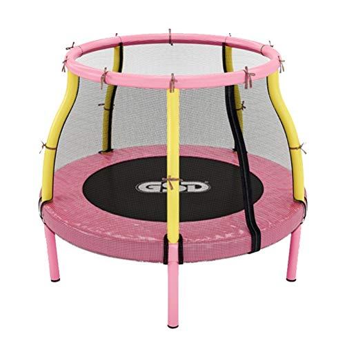 RY-Trampo Peuter Trampoline, Fitness Kinderen Indoor Tuin Spelen Met Veiligheid Handrail Springen Bungee Bounce Met Beschermend Net (kleur : Roze, Maat : #met mesh)