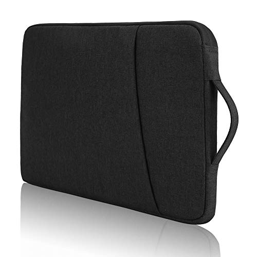 Protective 14 Inch Chromebook Carrying Case Sleeve, Waterproof, Designed for School Kids, College Students and Office Workers (Black)