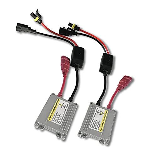 L1YAFYA Xenon H4 Xenon H7 35W 55W Slim Ballast Kit HID Xenon Unidad de Encendido Bloque de Encendido Ballasto electrónico para H1 H3 H4 H7 H11 9005 (Color Temperature : 55W, Emitting Color : 2PCS)