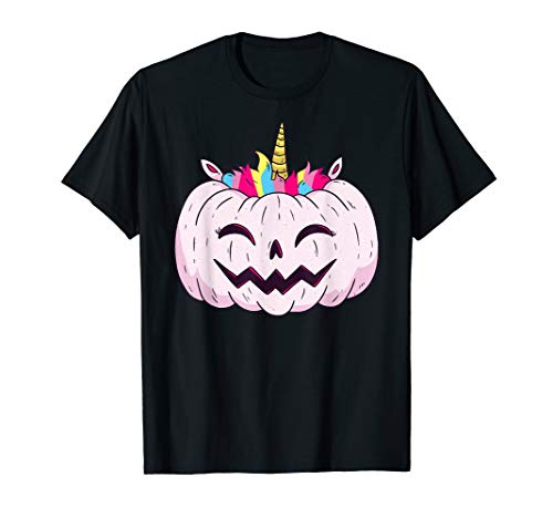 Halloween tShirt Kürbis Einhorn | grusel Party Geschenkidee T-Shirt