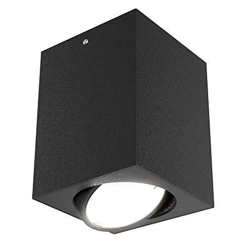 Briloner Leuchten LED opbouwlamp, plafondlamp GU10, reflector draaibaar, 400 lumen, 3.000 Kelvin, zwart, 8x8cm, 5 W