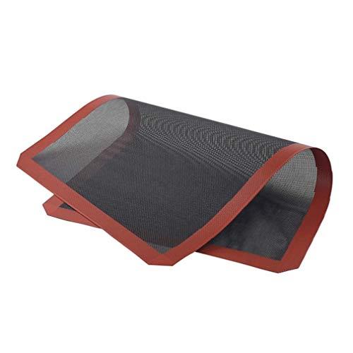 #N/V Alfombrilla de silicona para hornear de diseño práctico para el hogar, herramientas de cocina, antiadherente, para hornear galletas y galletas (negro, 37 x 57 cm)