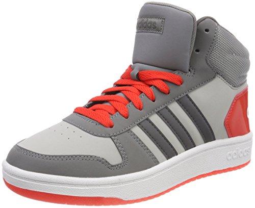 adidas Vs Hoops Mid 2.0 K, Scarpe da Basket Unisex-Bambini, Grigio (Gretwo/Grefiv/Hirere 000), 36 EU
