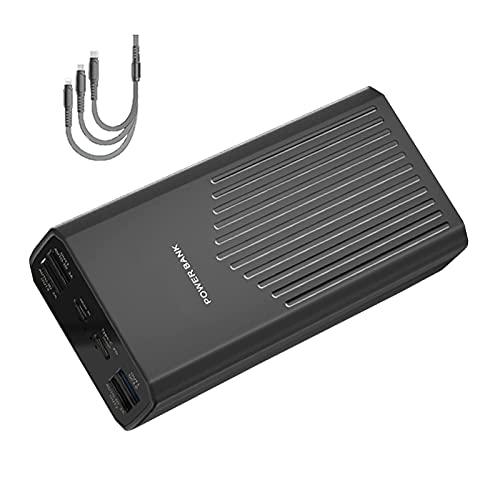 DNGDD Cargador portátil Power Bank [con Cable 3 en 1] 5 Salidas 2 entradas, Power Banks Compacto de 40000 mAh, batería Externa PD 20W QC 3.0 Powerbank USB C para i-Phone, Samsung, Tableta Huawei,
