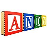 Large Toy 3D Wooden Block Letter Wall Decor DIY kit for Toy Story Room 7 x 7 x 2.5 Includes Wall Hanging kit and Glue to DIY Assemble (A)