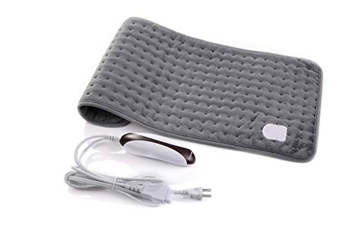 """MaxKare Heating Pad Electric Fast-Heating Warming Pad 5 Temperature Settings,Heating Pads for Back Pain Moist Heat Therapy Option Auto Shut-Off and Machine Washable- 12"""" x 24"""""""