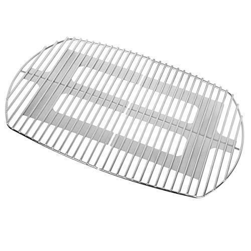 Onlyfire Grillrost Edelstahl,Ersatzrost passend(65.5 * 44.5 cm) für Weber Q300, Q320, Q3000, Q3100, Q3200 Gasgril