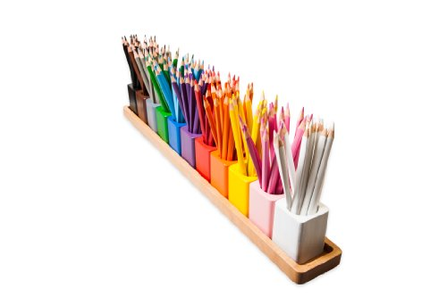 Amazing Child Montessori Pencil Holders On A Wooden Stand -