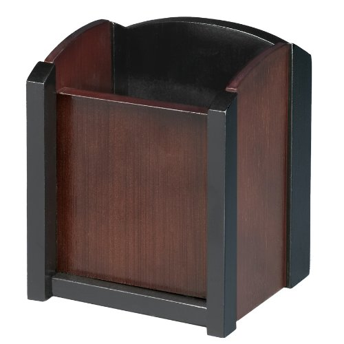 Artistic ART13005 Dual-Tone Sustainable Bamboo Pen and Pencil Cup Holder, Espresso Brown Black (ART13005)