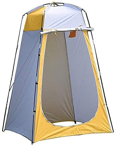 LLKK Outdoor Portable Privacy Tent Pop Up Shower Tent, Portable Privacy Tent, Camp Toilet, Changing Room, Outdoor Canopy for Camping and Beach yellow