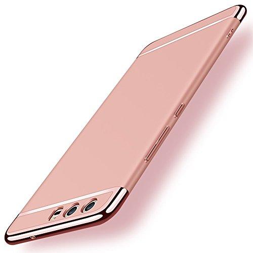Neivi Huawei P10 Hülle, Huawei P10 / P10 Plus Hüllen Handyhülle Ultra Slim Case 3 in 1 Harte PC Hardcase 360 Grad Schutzhülle with Bumper Schutz Tasche Schale für Huawei P10 (Rose Gold, Huawei P10)