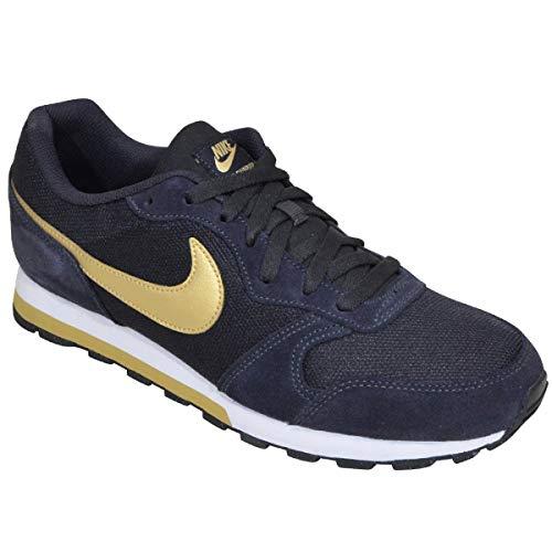 Nike Herren Md Runner 2 Leichtathletikschuhe, Mehrfarbig (Oil Grey Metallic Gold 000), 44 EU