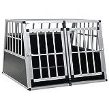 vidaXL Jaula Perros Metálica 2 Puertas Transportín Aluminio Mascotas Animales