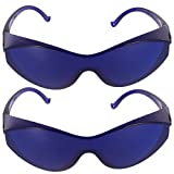 EXCEART 2pcs Protective Goggles IPL Eyeglasses Safety Face Cover Hair Removal Eye Protection Goggles Anti Splash Eyewear