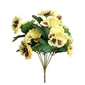 Silk Flower Arrangements JENPECH Artificial Flower,1Pc Artificial Flower Pansy Garden DIY Stage Party Home Wedding Craft Decoration - Yellow