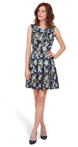 TOM TAILOR Damen Highlight Summer Dress Kleid, Blau (real Navy Blue 6593), 44