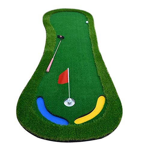 Alfombra De Entrenamiento De Golf Antideslizante Mats de golpe de golf, depósitos de putter interior para exteriores y al aire libre Grees Golf - Manta de práctica - Mat - Ball - Mat de velocidad de b