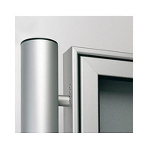 Rundrohr aus Aluminium zum Einbetonieren, eloxiert, alu-silberfarbig, passend für alle Modelle, Länge: 240,0cm,
