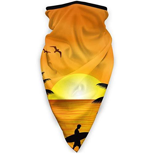 BEHDIJ Pasamontañas máscara facial a prueba de viento máscara deportiva bufanda para mujeres hombres al aire libre cómodo y transpirable cuello polaina diadema bufanda playa coco árbol