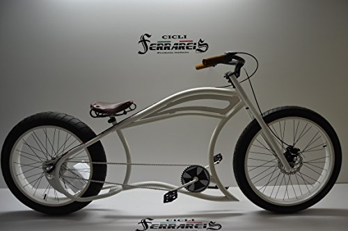 Cicli Ferrareis Fat Bike Cruiser Chopper Bike Custom Garage Personalizzabile