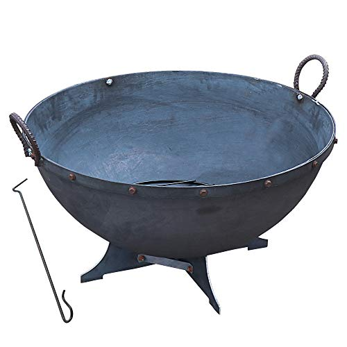 TITAN GREAT OUTDOORS 32 in. Hemisphere Fire Pit and Poker