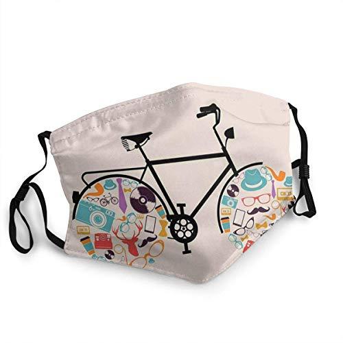 YYTT8 Gesichtsschutz Mundschutz Nasenschutz Wiederverwendbar Waschbar Gesichts Schals Mit Filtern Fahrradfahrzeug...