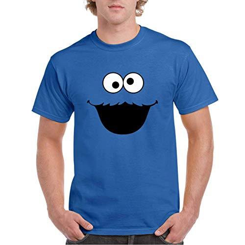 Monstruo de Las Cookies - Camiseta Azul Royal Manga Corta
