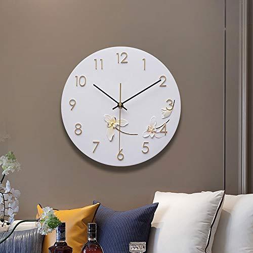 Reloj de pared – Resina/Metal Puntero/Personalidad/Home/Reloj, Moda Reloj de pared Salón Dormitorio creativo reloj de pared (28 x 28 cm) Mereces tener