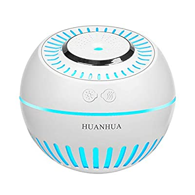 HUANHUA Ultrasonic Cool Mist baby humidifier 380 ml for bedroom humidifiers with 7 Colors LED Changing Lights for Yoga, Spa, Baby Room, Bedroom, Office,Car