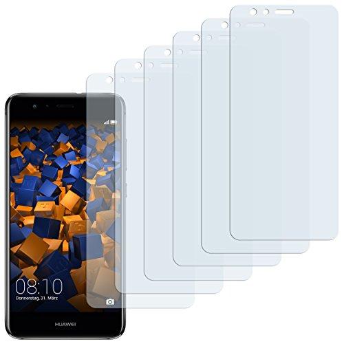 mumbi Schutzfolie kompatibel mit Huawei P10 lite Folie klar, Bildschirmschutzfolie (6X)