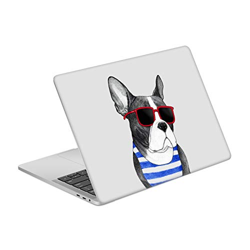 Head Case Designs Officially Licensed Barruf Frenchie Summer Style Dogs Matte Vinyl Sticker Skin Decal Cover Compatible with MacBook Pro 13' A1989 / A2159
