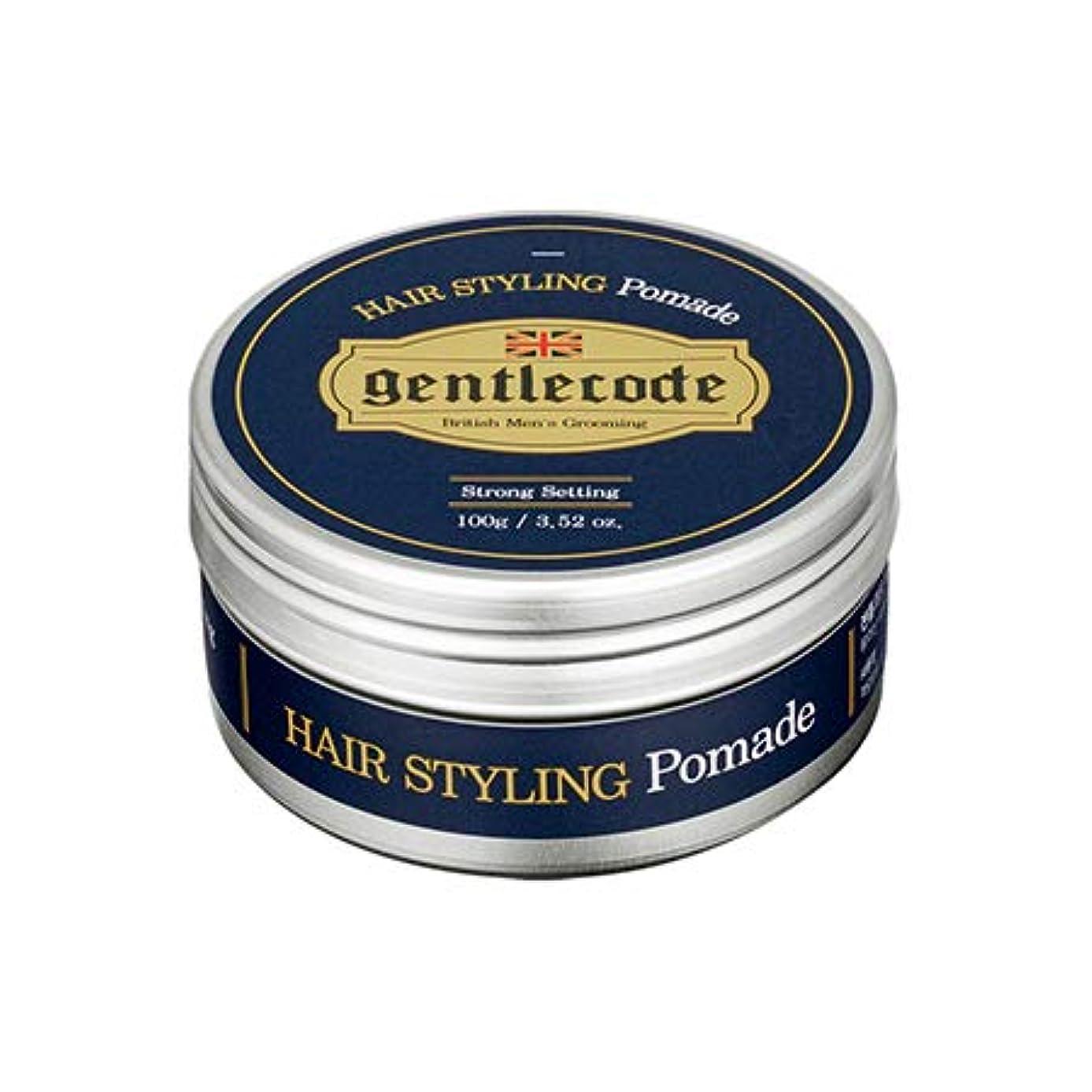 交流するアミューズメント省略【ジェントルコード.gentle code]ヘアスタイリングポマード(100ml)/ hair styling pomade