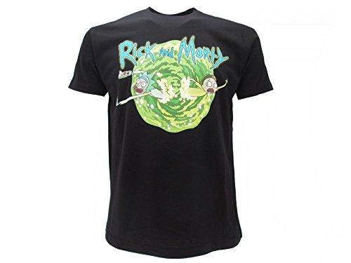 Rick and Morty T-Shirt Originale cartellino ed Etichetta di originalità Maglia Maglietta (L Adulto)