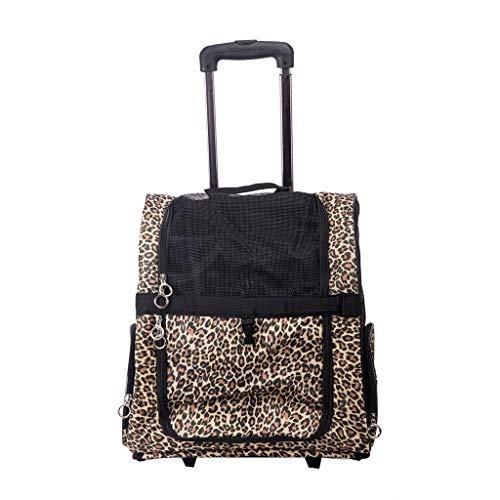 Bolsa para mascotas con ruedas de viaje, mochila de viaje para equipaje...