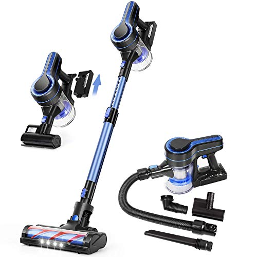 APOSEN Cordless Vacuum Cleaner, Upgraded 24000pa Stick Vacuum 5 in 1 with...