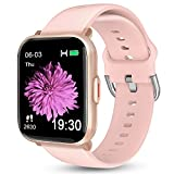 Smart Watch for Android Phones iOS, KALINCO Swim Watch with Heart Rate Monitor Pedometer Calorie Counter, 5ATM Waterproof Fitness Tracker with Sleep Monitor Compass, Smartwatch for Men Women (Pink)