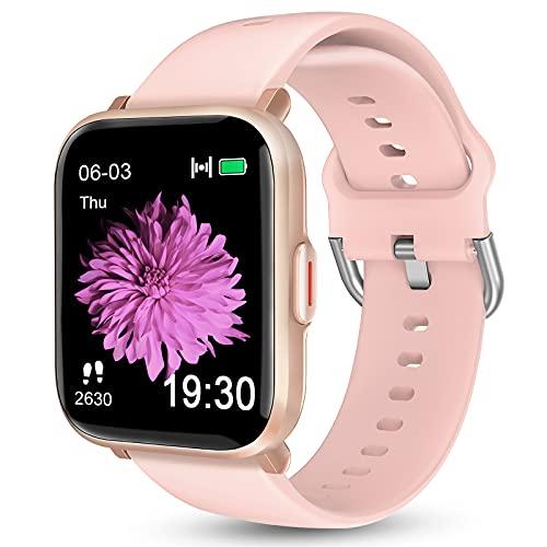 KALINCO Smartwatch für Android-Telefone, Schwimmuhr mit Herzfrequenz-Monitor, Schrittzähler, Kalorienzähler, 5 ATM wasserdichter Fitness-Tracker mit Schlafüberwachung, Kompass, Smartwatch für Damen und Herren
