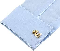 Chinese Style Gold Dragon Totem Cufflinks Mens Shirt Cufflinks