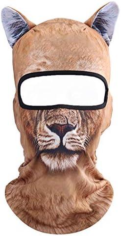 Koolip Cat Balaclava,Dog Balaclava,Halloween Hat,Cute Full Face Hood Mask Animal Ski Mask for Hiking Riding Sports Outdoor