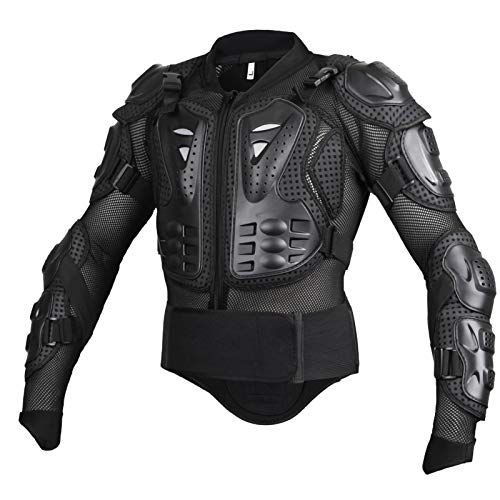 TKTTBD Men's Motorcycle Body Protective Jacket,Guard Motorbike Motorcross Armour Armor Racing Clothing Protection, for All Weather Season Motorcycle Armor for Biker