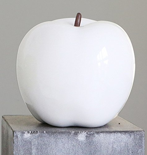 Figura Decorativa Manzana', 12 cm, blanco