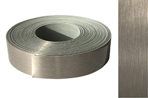 Kantenumleimer ABS 42mm x 5m mit Schmelzkleber in echt Edelstahl VA gebürstet