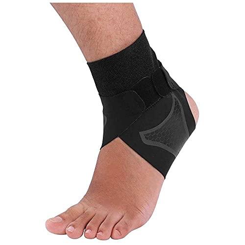 YuKeShop Tobillera de neopreno transpirable y ajustable, protege contra la tensión crónica del tobillo, esguinces de fatiga para el baloncesto y el pie de apoyo unisex