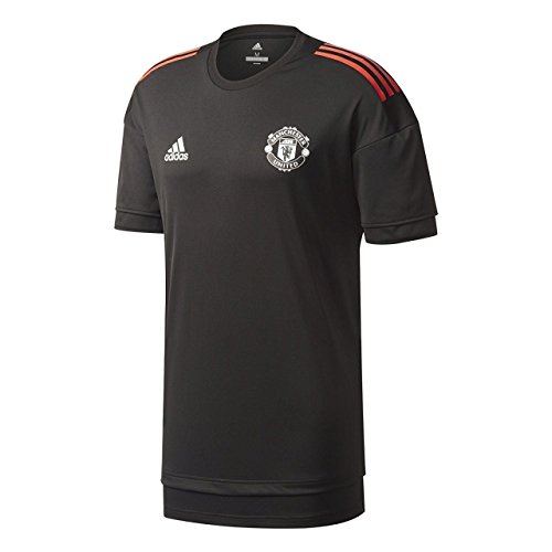 adidas MUFC EU TR JSY Manchester United FC T-Shirt de Football Unisexe pour Enfant XS Nero (Nero/Rosso)